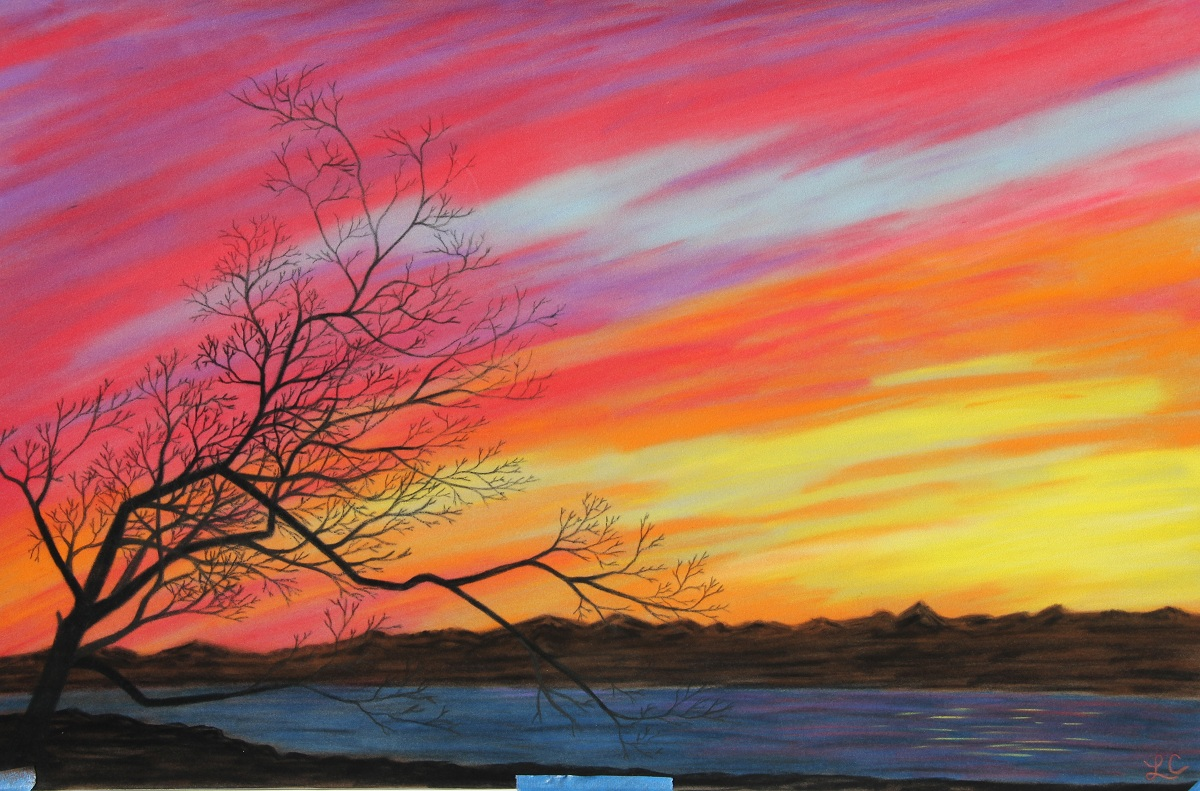 Sunset Pastel Drawing at PaintingValley.com | Explore ... |Pastel Drawings Of Sunsets